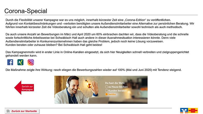 Bausparkasse Schwäbisch Hall Corona-special